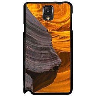 Fuson Yellow Designer Phone Back Case Cover Samsung Galaxy Note 3 (Drape It Yellow And Black)