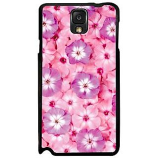 Fuson Pink Designer Phone Back Case Cover Samsung Galaxy Note 3 (A Garden Full Of Flowers)