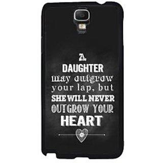 Fuson Black Designer Phone Back Case Cover Samsung Galaxy Note 3 Neo (Daughter Will Remain Father'S Love)