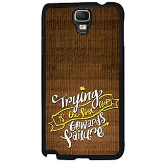 Fuson Brown Designer Phone Back Case Cover Samsung Galaxy Note 3 Neo (Trying And Failure)