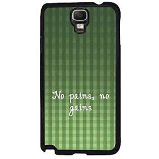 Fuson Green Designer Phone Back Case Cover Samsung Galaxy Note 3 Neo (No Pains No Gains)