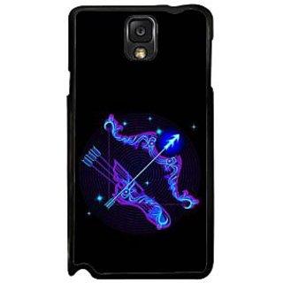 Fuson Blue Designer Phone Back Case Cover Samsung Galaxy Note 3 (Arrows Are Sharp)