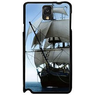 Fuson White Designer Phone Back Case Cover Samsung Galaxy Note 3 (Beautiful Journey)