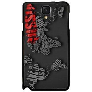 Fuson Gray Designer Phone Back Case Cover Samsung Galaxy Note 3 (Discovering Russia)