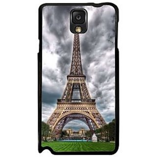 Fuson Multicolor Designer Phone Back Case Cover Samsung Galaxy Note 3 (Eiffel Tower With Overcast Sky)