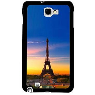 Fuson Multicolor Designer Phone Back Case Cover Samsung Galaxy Note 2 (Beautiful View Of Eiffle Tower)