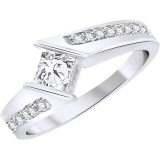 Vidhi Jewels Rhodium Plated Fancy Brass Finger Ring for Women [VFR208R]