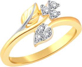 Vidhi Jewels Gold Plated Serenity Leafy Pattern Finger Ring for Women  Girls VFR343G