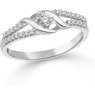 Vidhi Jewels Rhodium Plated Diamond Ring for Women VFR130R