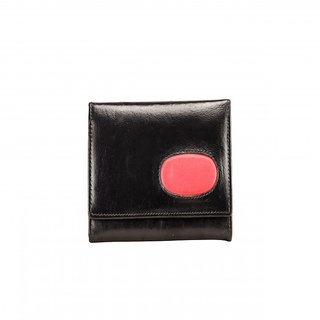 Deeya Black Genuine Leather Ladies Wallet