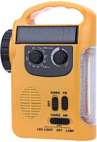 Generic RD339 Solar Dynamo Powered AM FM Radio with Flashlight LED Emergency Lamp Light