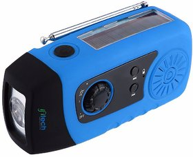 IFITech Portable Dynamo Emergency Solar Crank AM/FM Radio with LED Flashlight, Cell Phone Portable Charger