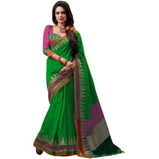 kanak new styles green color cotton saree