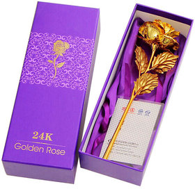 s4d 24K Gold Plated Rose Valentine Day Gift For Girls