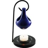 Aroma Oil Burner Hanging Pot (Blue)  With 10 Gram Oil