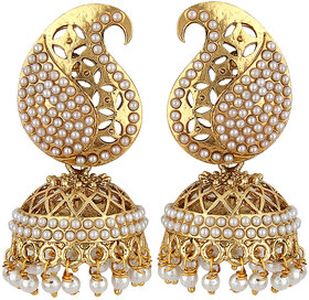 Styylo Fashion Exclusive Golden White Earrings Set /S1