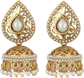 Styylo Fashion Exclusive Golden White Earrings Set /S2