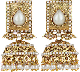 Styylo Fashion Exclusive Golden White Earrings Set /S3