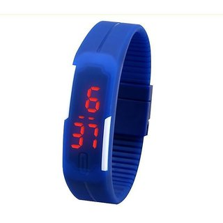 imported LED slim watch blue
