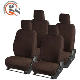 GS-Sweat Control Coffee Towel Car Seat Cover for Mahindra Quanto (7-Seater)