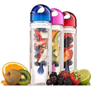Kudos Fruit Infuser Detox 700 ml Sipper, Bottle, Shaker  (Pack of 1 Multicolor)