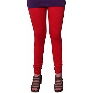 Womens Cotton Churidhar Leggings Red