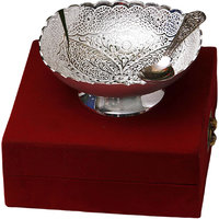 Anand Kala Mandir Silver Plated Brass Triangle Shaped Dry Fruit Bowl Bowl