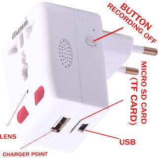 Ons Group  Now HD Hidden Plug camera Motion Detection with Long Hours Recording.Original brand Sold by Only Ons Group.While recording no light Flashes