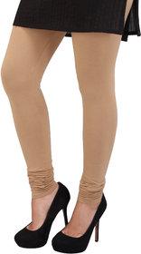 Perfect Beige Cotton Lycra Leggings