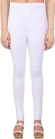 Perfect White Cotton Lycra Leggings
