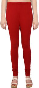 Perfect Red Cotton Lycra Leggings