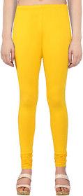 Perfect Yellow Cotton Lycra Leggings