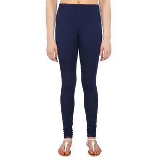 Perfect Navy Blue Cotton Lycra Leggings