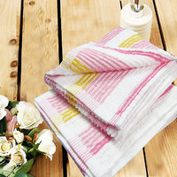 Yarn Dyed Stripes Hand Towel Set Of Two