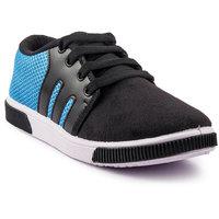 PAN Men Blue Lace-Up Casual Shoes
