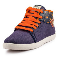PAN Men Blue Lace-Up Casual Shoes
