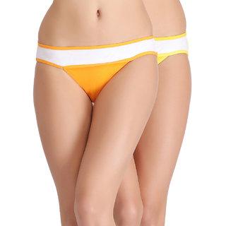 Clovia Set Of 2 Contrast Low Waist Cotton Bikinis
