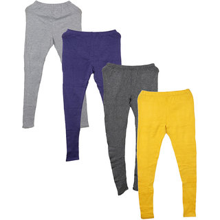 IndiWeaves Pack of 4 Multicolor Wool Women's Legging