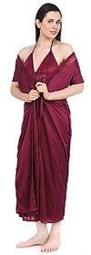 Fasense Women Nightwear Sleepwear Satin 2 Pcs Set  Night Gown and Robe Nighty (DP043 C)