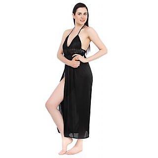 Fasense Women Nightwear Satin 2 pcs set Night Gown and robe DP043 B
