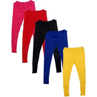 IndiWeaves Pack of 5 Multicolor Wool Women's Legging