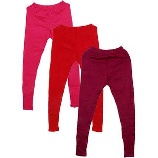 IndiWeaves Pack of 3 Multicolor Wool Women's Legging