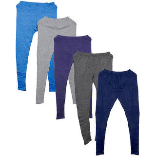 IndiWeaves Pack of 5 Multicolor Wool Women's Legging