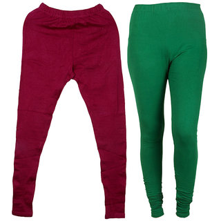 IndiWeaves Pack of 2 Multicolor Wool Women's Legging