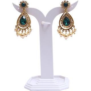 Infinite Arts Semi-Precious Crystals Gold Metal Earrings