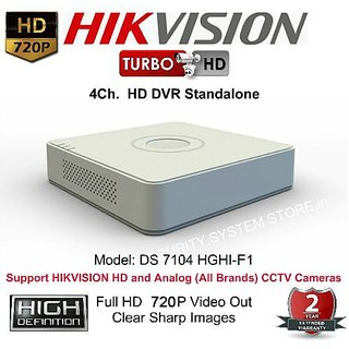 HIKVISION DS-7104HGHI-E1 Turbo HD 720P 4 Channel HD DVR