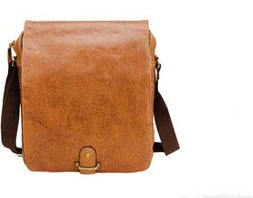 Deeya Tan Unisex Genuine Leather Messengerbag