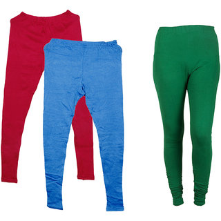 IndiWeaves Pack of 3 Multicolor Wool Women's Legging