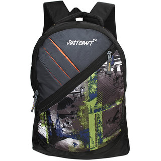 Justcraft Freedom Black and Green 25 Liters Backpack