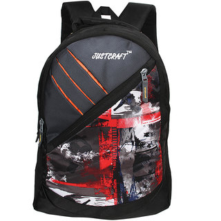 Justcraft Freedom Black and Red 25 Liters Backpack